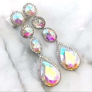 Cherryl's Jewelry - Gorgeous AB Crystal Special Occasion Drop Earrings